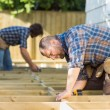 Carpenters Working At Construction Site — Stock Photo