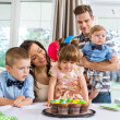 Stock Photo: Family Celebrating Girl's Birthday