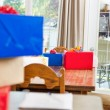 Birthday Presents On Dining Table — Stock Photo