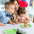 Family Celebrating Boy's Birthday — Stock Photo