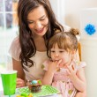 Mother With Birthday Girl At Home — Stock Photo