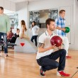 Friends in Bowling Club — Foto Stock