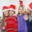 Family At Home During Christmas — Stock Photo