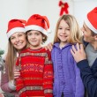 Stock Photo: Family At Home During Christmas