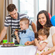 Family Celebrating Birthday At Home — Stock Photo