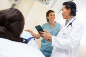 Medical Team With Digital Tablet In Examination Room — Stock Photo
