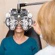 Senior Woman Having Eye Test — Stock Photo #35234483