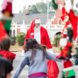 Children Running To Embrace Santa Claus — Stock Photo