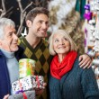 Family Shopping In Christmas Store — Stock Photo
