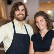 Stock Photo: Happy Coffee Shop Owners