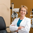 Female Optometrist With Arms Crossed — Stock Photo