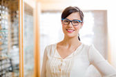 Female Customer Wearing Glasses In Store — Stock Photo
