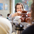 Customer Taking Coffee From Barista — Stock Photo #35292865