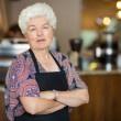 Senior Business Owner in Cafe — Photo