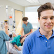 Stock Photo: Father at Hospital During Child Birth