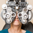 Woman Having An Eye Test — Stock Photo