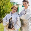 Portrait Of Confident Female Beekeepers — Stock Photo