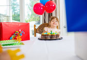 Birthday Girl Looking At Presents At Home — Stock Photo