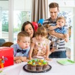 Family Having Birthday Celebration At Home — Stock Photo #35851721