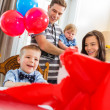 Family Celebrating Son's Birthday — Stock Photo