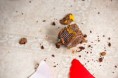 Cupcake Crumbs On Flooring — Stock Photo