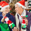 Couple Shopping For Christmas Decorations In Store — Stock Photo