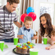 Family Having Birthday Party — Stock Photo