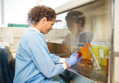 Female Scientist Experimenting In Laboratory — Stock Photo