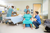 Birthing Mother in Hospital having Contraction — Stock Photo