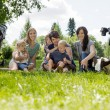 Women With Their Children Enjoying Picnic — Stock Photo
