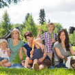 Happy Mothers And Children Enjoying Picnic — Stock Photo