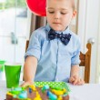 Boy Eating Birthday Cake — Stock Photo
