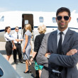 Confident Young Businessman At Airport Terminal — Stock Photo #36763167