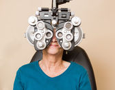 Woman Having An Eye Exam — Stock Photo