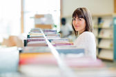 College Student In Bookstore — Stock Photo