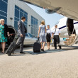 Stock Photo: Business People About To Board Private Jet