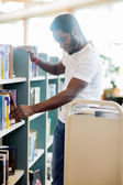 Librarian Arranging Books In Library — Stock Photo