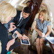 Stock Photo: Business People Meeting In Private Jet