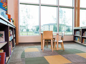 Interior Of Library With Bookshelves — Stock Photo