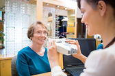 Woman Getting An Eye Test From Ophthalmologist — Stock Photo