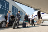 Business Professional About To Board Private Jet — Stock Photo