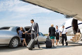 Business Partners About To Board Private Jet — Stock Photo