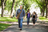 Confident Male Grad Student Walking On Campus — Stock Photo