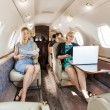 Stock Photo: Business Professional In Corporate Jet