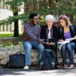 University Students Using Digital Tablet — Stock Photo #39620409