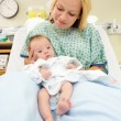 Newborn Baby Girl With Mother In Hospital — Stock Photo