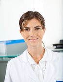 Smiling Female Researcher — Stock Photo