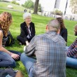 Outdoor Class at University — Stock Photo