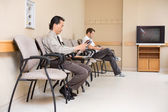 Patients Waiting In Hospital Lobby — Stock Photo