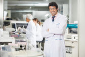 Researcher Standing Arms Crossed — Stock Photo